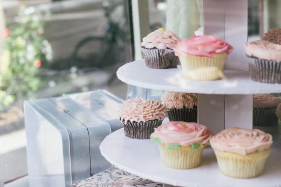 Doma pečené svatební cupcakey nahradí svatební dort pro všechny hosty.