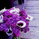 Originální svatební kytice z kal a šeříku