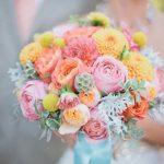 Pastelové barvy svatební kytice