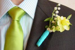 Ženich vbarvách svatby snadno arychle