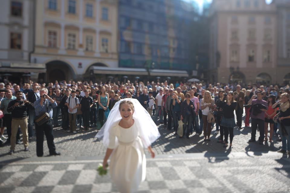 Obřad probíhal na Staroměstském náměstí.