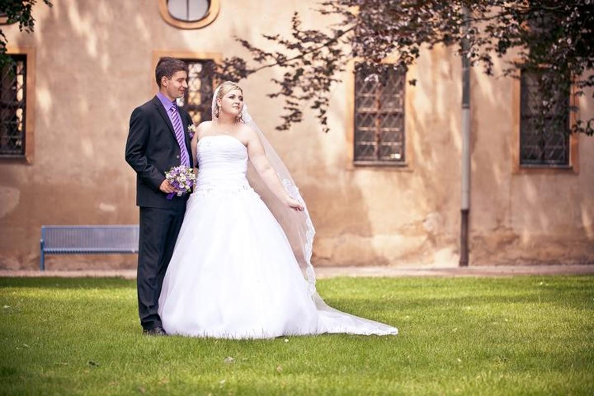 Svatební focení novomanželů.