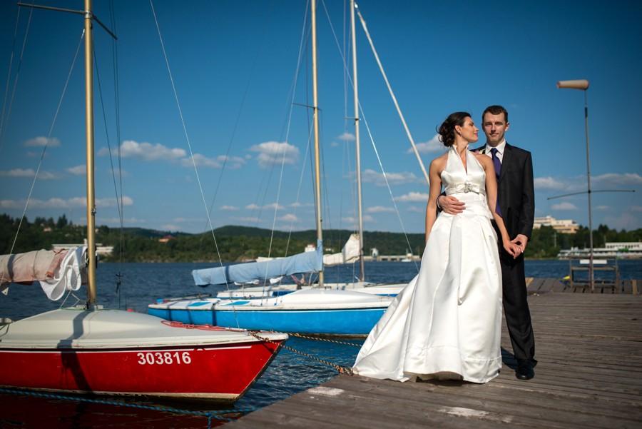 Svatba na břehu brněnské přehrady organizovaná redaktorkami Vše o svatbě