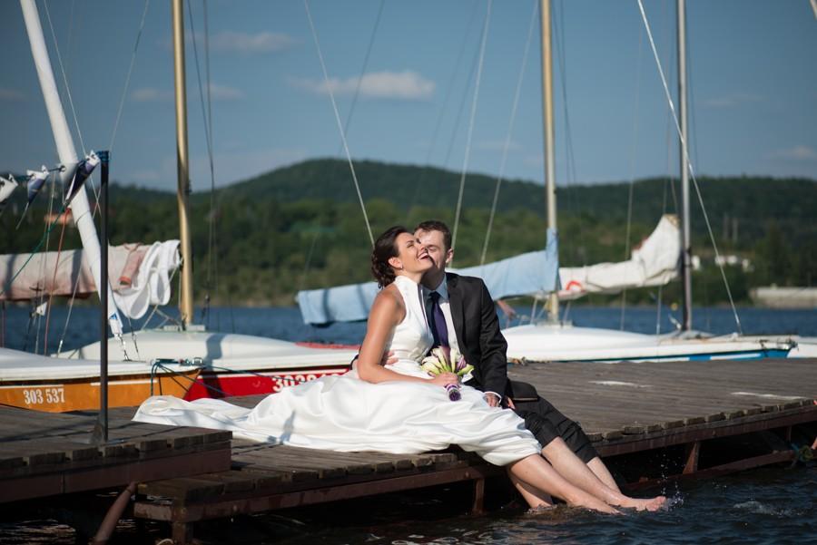 Malé osvěžení při svatebním focení.