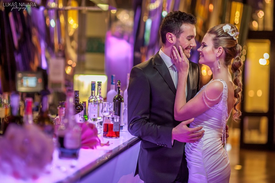 Futuristická ultra moderní svatba
