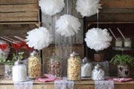 DIY svatební dekorace: Papírové koule pom-poms