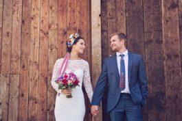 Folklorní tradiční vesnická svatba: fotoeditoriál Závan tradice