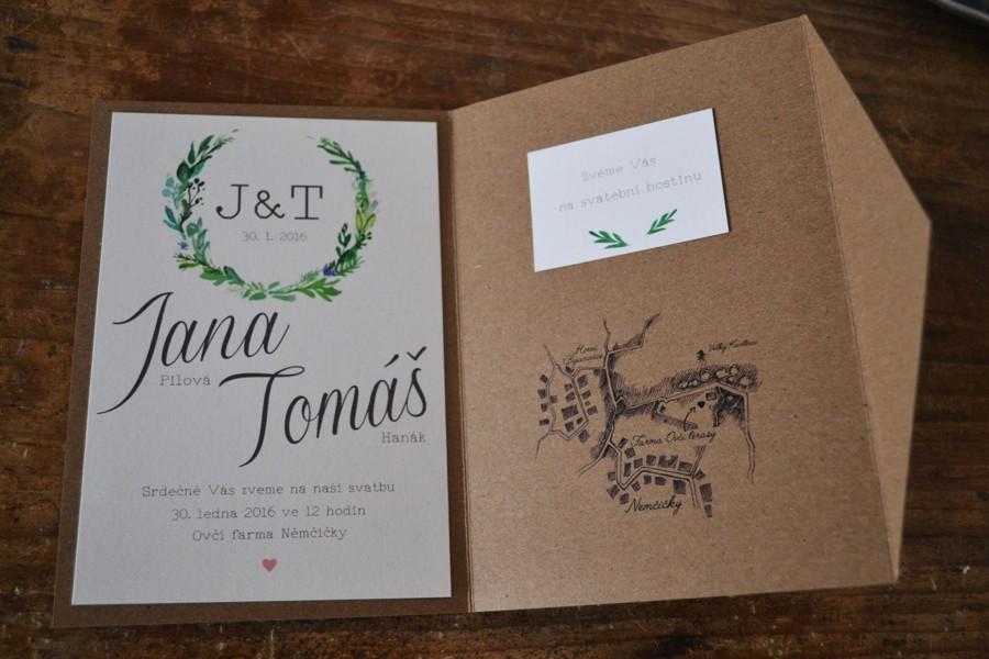 Ke svatebnímu oznámení přidejte i mapku místa svatby.