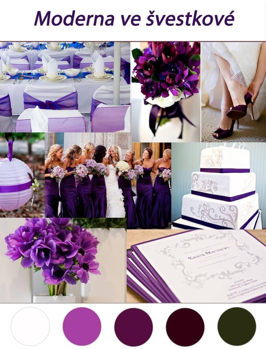 Švestková nebo tmavě fialová svatba se na podzim hodí.