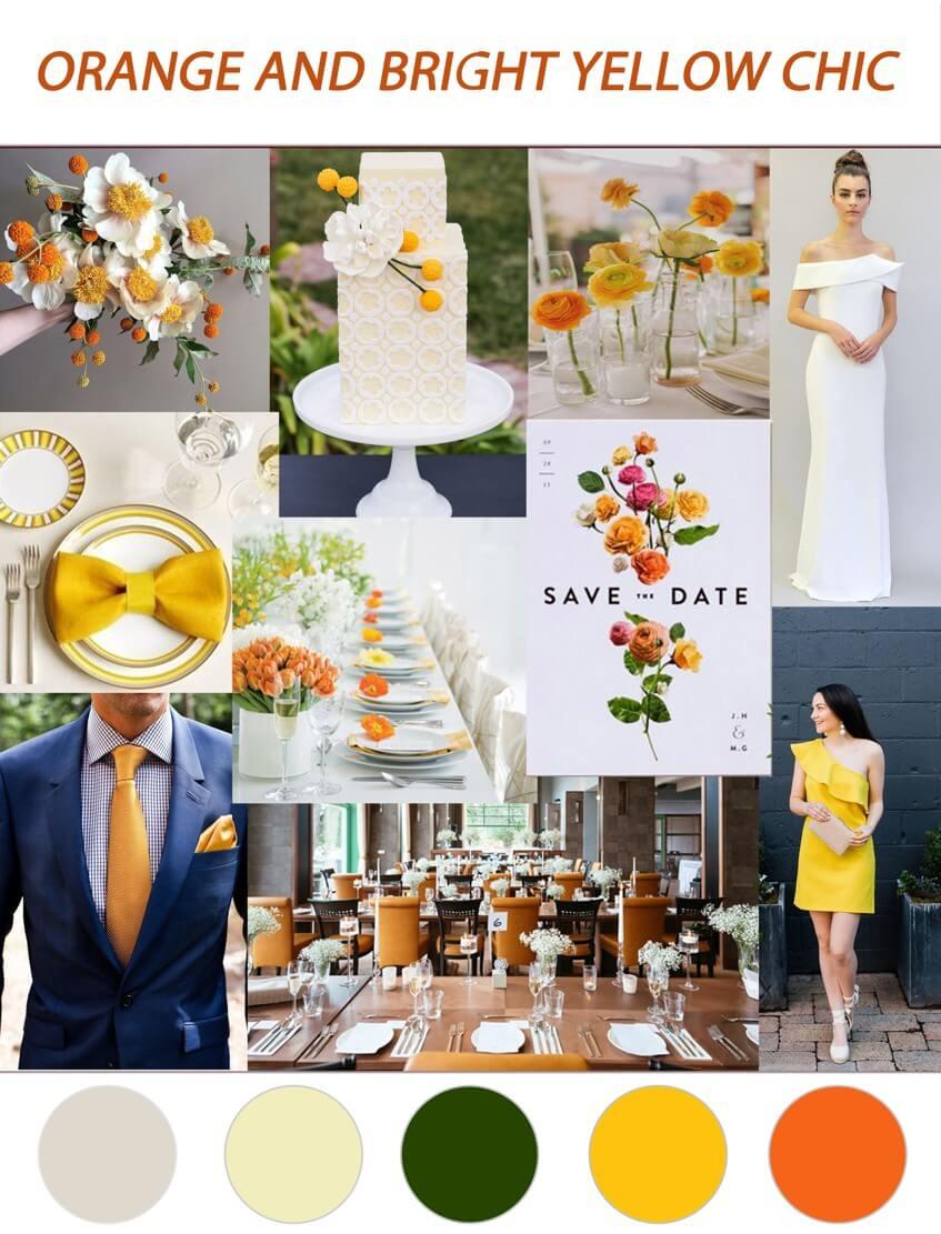 Typická podzimní svatba je oranžovo žlutá.