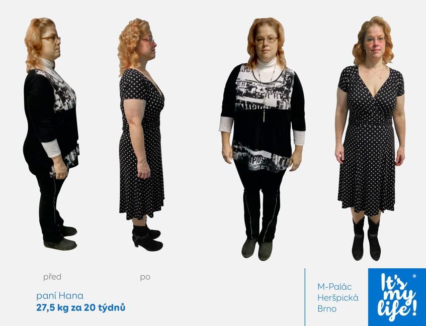 Paní Hana zhubla více než 20kg díky studiu IT'S MY LIFE v Brně.