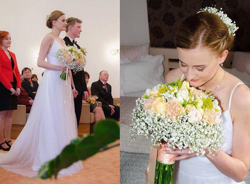 Barboru nejvíce bavilo vybírat svatební šaty.
