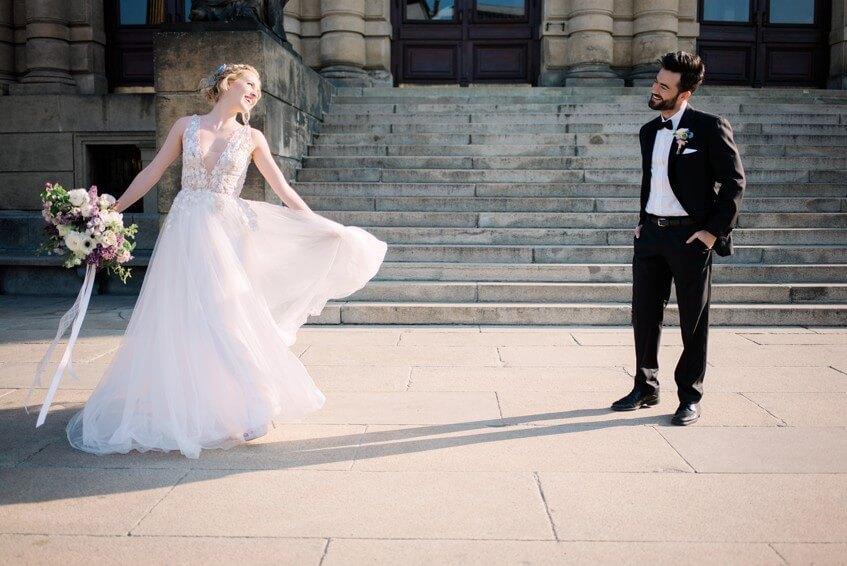 První tanec na schodech Rudolfina.