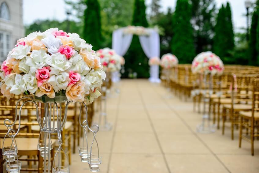 SVatební obřad je důležitou součástí svatby.