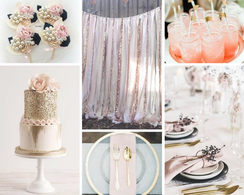 Inspirace na svatbu v růžové barvě