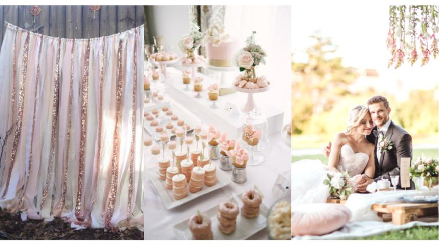 Pudrově růžová svatba