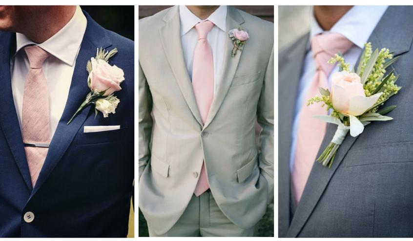Pánský svatební oblek s růžovou