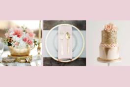 Svatební inspirace – pudrově růžová azlatá