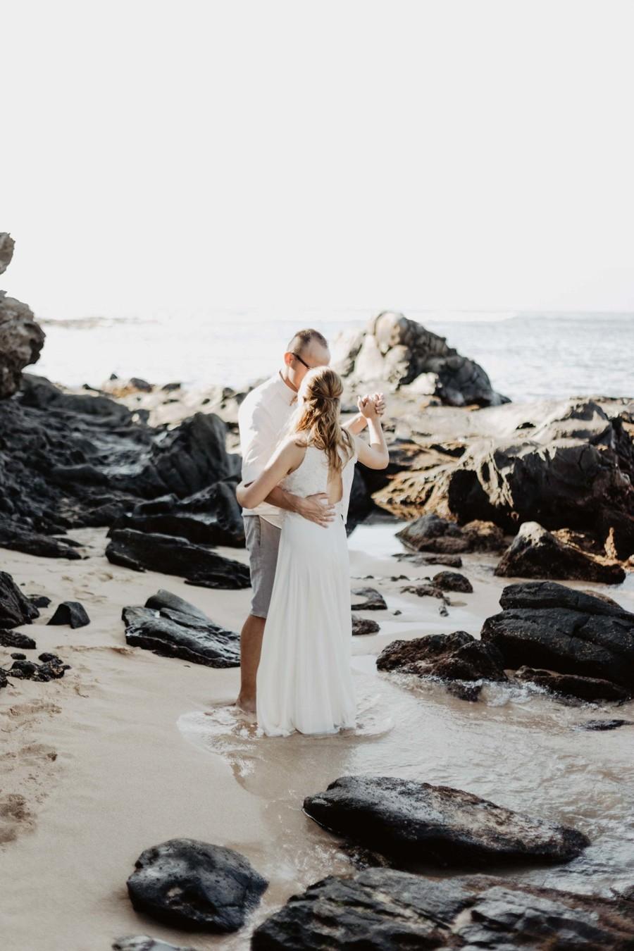 První tanec novomanželů na ostrově Maui.