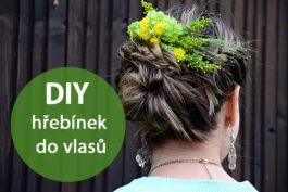 DIY: Hřebínek do vlasů sživými květy