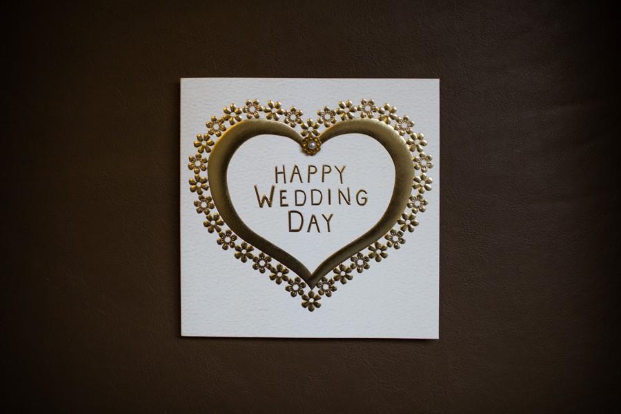 Svatební blahopřání se srdcem