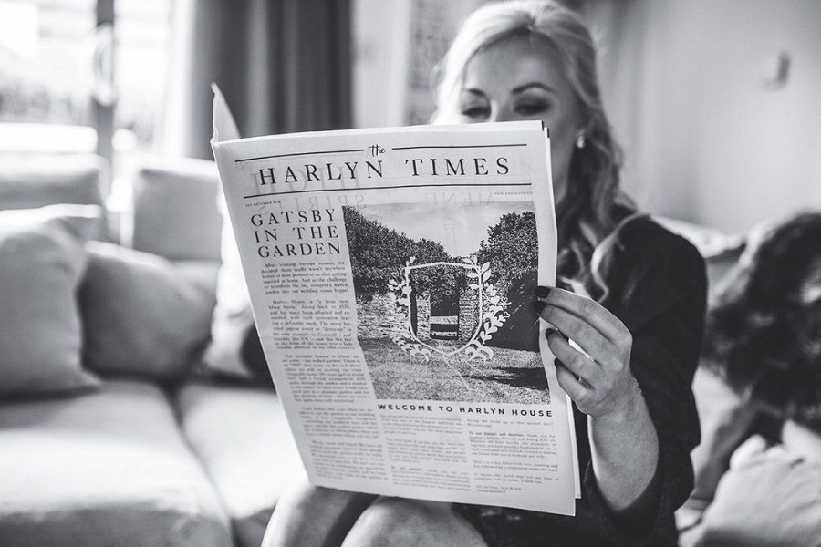 nevěsta a svatební noviny