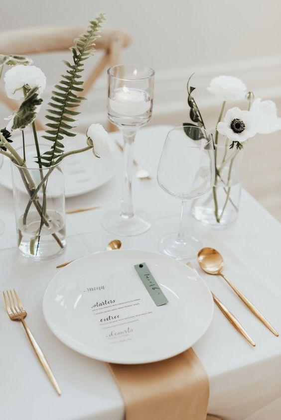 minimalistická svatební výzdoba